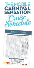 The Mobile Carnival Sensation Schedule