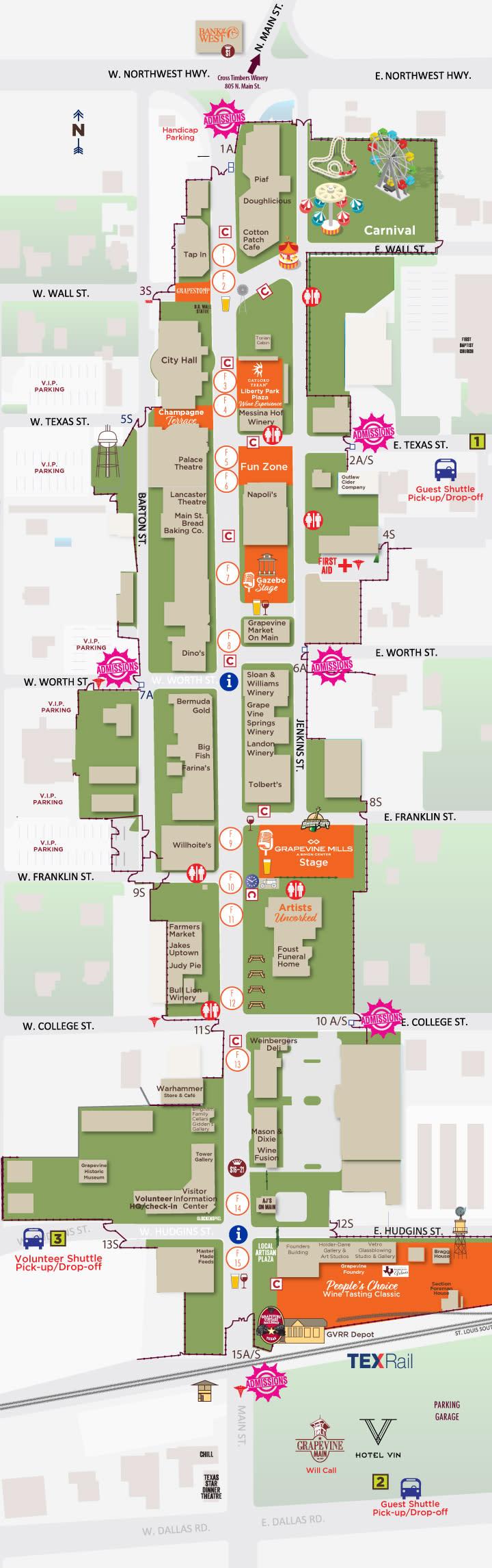 GF21 Festival Map