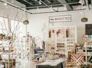 A bright, airy retail store in Downtown Bryan