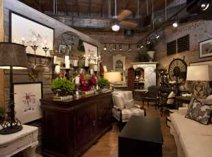 Furniture store interior