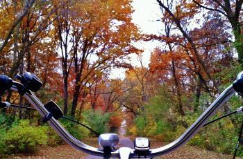 Biking on Kenosha County Bike Trail