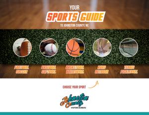 Sports Venues Guide cover graphic, Smithfield, NC.