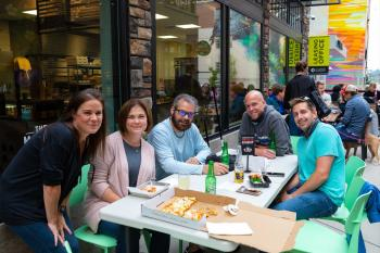 Friends gather for Comedy Night at the Downtown Allentown Market