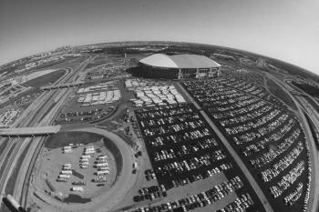 Texas Stadium B&W