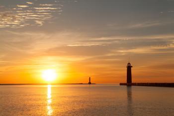 Sunrise at North Pier Lighthouse