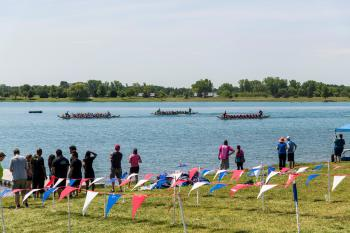 2019 Dragonfest 3 on water with spectators