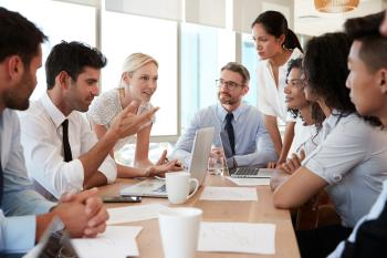 People around a conference table