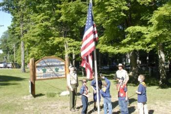 Glen Arbor Flag Raising