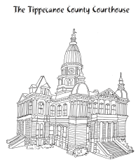 Tippecanoe County Courthouse Coloring Page