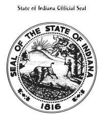 Seal of the State of Indiana Coloring Page