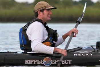 Chris Kelley Of Ripple Effect In A Kayak On The Water In Flagler County, FL