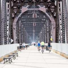 Cyclists on Big Four Bridge
