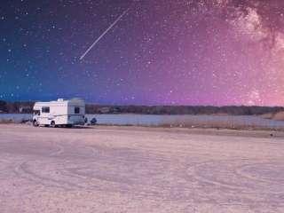 RV under starry sky