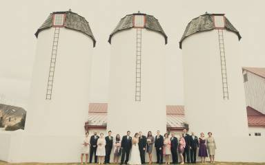 Bridal Party at Normandy Farm Silos