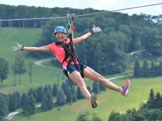 Zip Lining at Seven Springs in Laurel Highlands