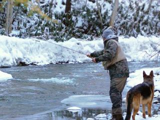 Winter Fishing Ohiopyle