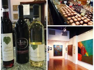 Wine Chocolate and Art