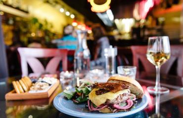 Burger at Avenues Bistro