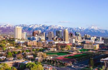 Salt Lake City Skyline in the springtime