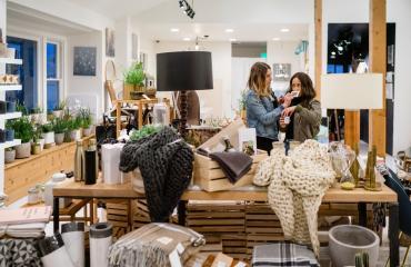 Couple shopping at Arte Haus Collectif