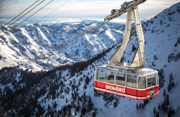 Tram at Snowbird in Winter