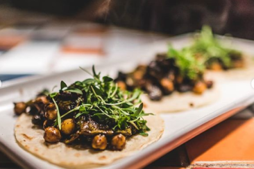 Tacos on a plate for Oakland Restaurant Week