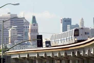 BART train transportation