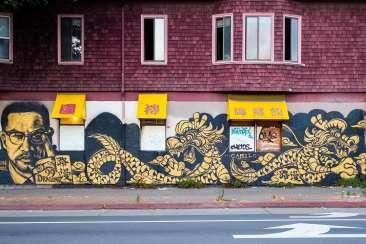 Dragon School Mural in Chinatown
