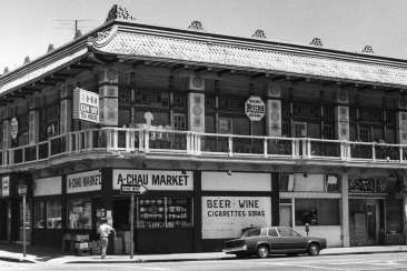 Many Chinese migrants who traveled to California in the 1850s to help build the Central Pacific Railroad settled near the Oakland Estuary at 1st Street and Castro.