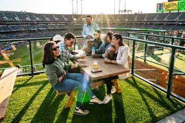 Meeting Group at A's Game