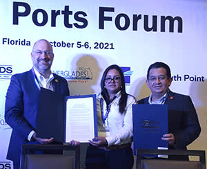 MOU signing with National Port Authority of Honduras