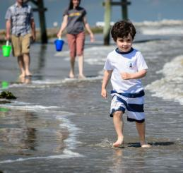Family on the Beach in Jefferson Parish