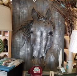 Horse painting at Tikis Boutique in Punta Gorda, Florida