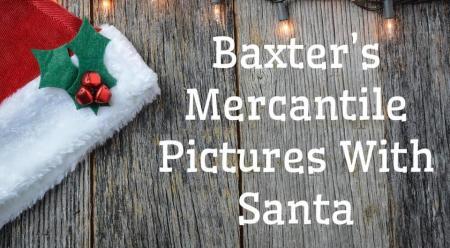 Baxter's Mercantile Photos with Santa