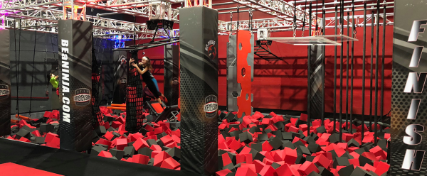 Obstacle course at xtremenasium in Clarksville Indiana