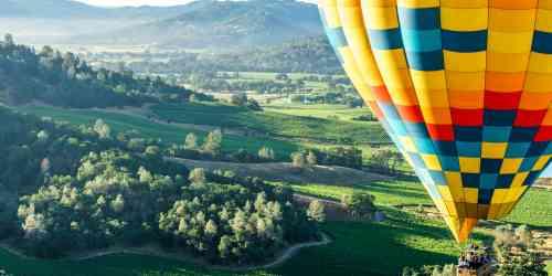 Hot air balloons over Napa Valley