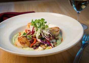 Scallop dish at Jack Sprat restaurant in Girdwood