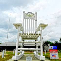 World's Largest Rocking Chair built by Dedeaux Clan Furniture