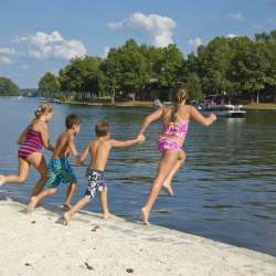 Lake Sinclair Kids at Beach