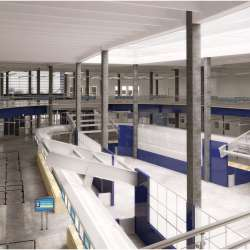 Cruise Terminal 18 interior rendering from entrance