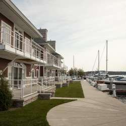 Outside the Harbor Lights Resort