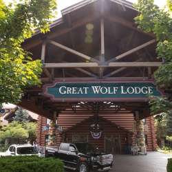 Outside the Great Wolf Lodge