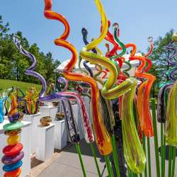 Blown Glass at Arts Festival