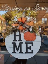 Fall Home wooden sign from Blessings on Spring