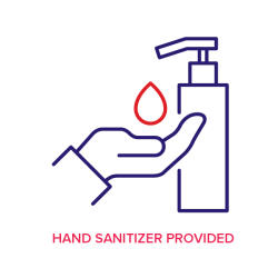 Hand sanitizer provided icon