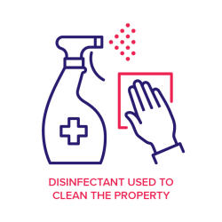 Disinfectant used to clean the property icon