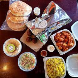Pita, falafel, chicken and other take and bake items from Banzo