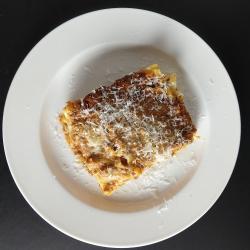 A plate of lasagna from Campo di Bella