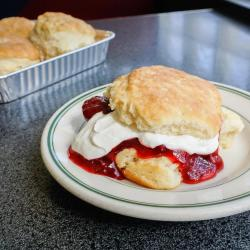 Take and bake strawberries and cream biscuits from Hubbard Avenue Diner