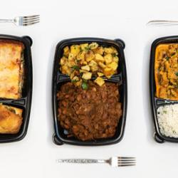 Three take and bake meals from Willy Street Co-op in their containers